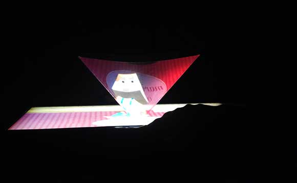 Holographic Toy Paper Puppet